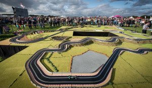 Scalextric's Ultimate 2015 track designed by Sky Sports F1® expert Martin Brundle, is the biggest layout the slot car track experts have ever created. Rock legend Bob Geldof and MotoGP Suzi Perry test out the track live on The One Show filmed at Carfest 2105 in Hampshire. Copyright John Nguyen/JNVisuals 31/08/2015 07737840313