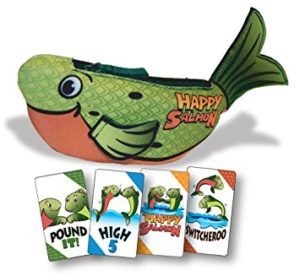 If you're looking for party games then may we suggest this Salmon slappy happy play?