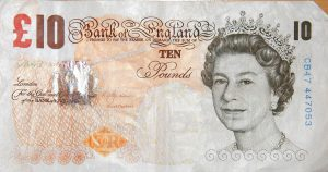 Paper Ten Pound Note