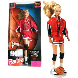 Barbie in her Chicago Bulls outfit