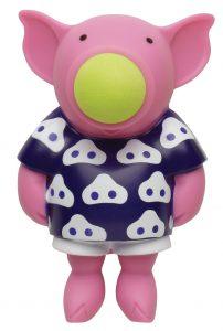 Squeeze popper pig